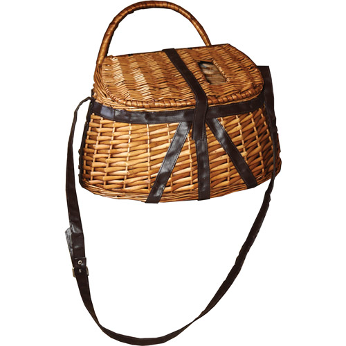 Rivers Edge Products Antiqued Willow and Leather Fisherman's Creel