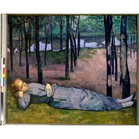 Madeleine in the Forest of Love by Emile Bernard 1888 1868-1941 France Paris Musee dOrsay Stretched Canvas - Emile Bernard (24 x