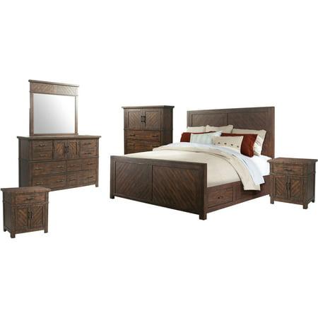 picket house furnishings dex queen platform storage 6pc bedroom set. Black Bedroom Furniture Sets. Home Design Ideas