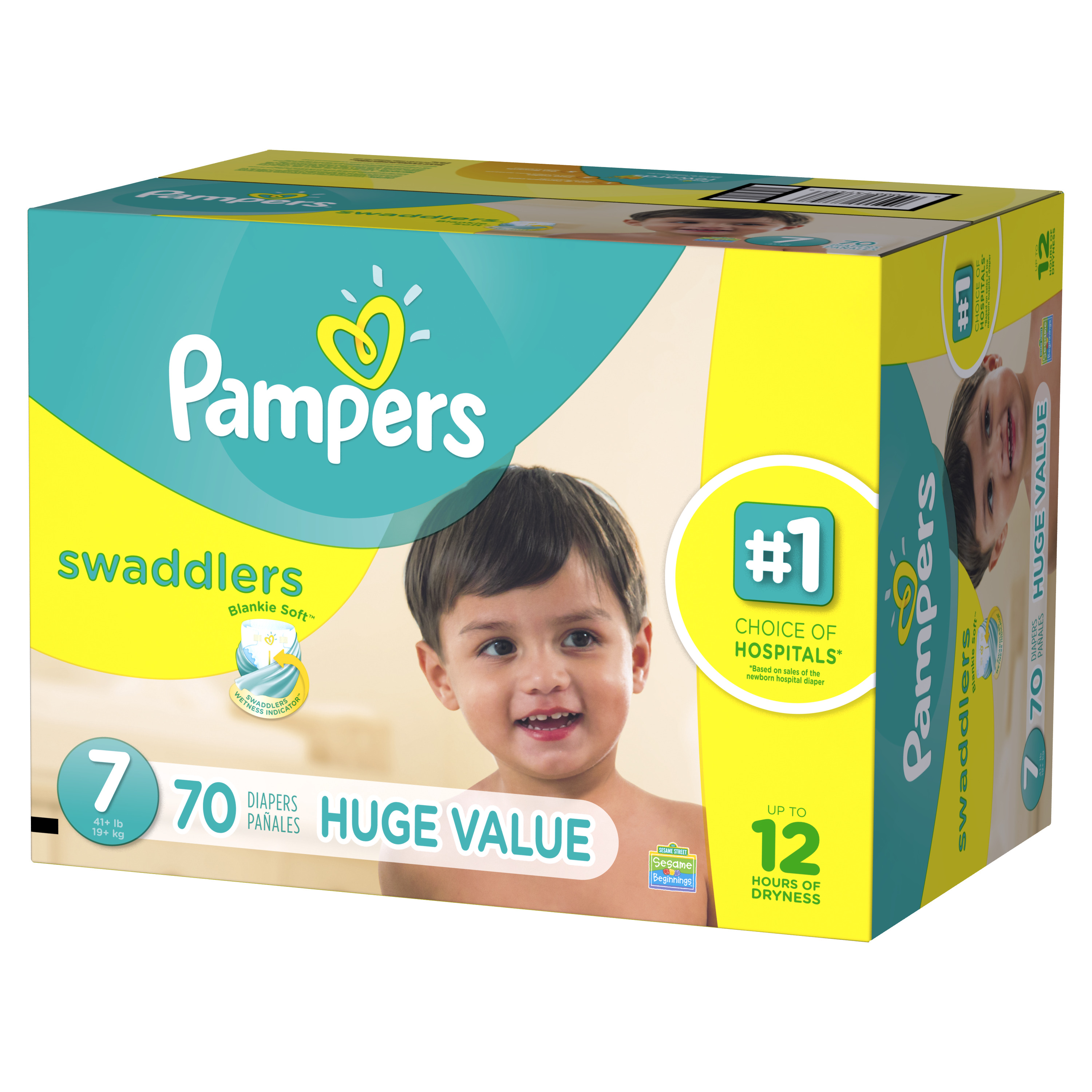 Pampers Swaddlers Diapers Size 6 70 count