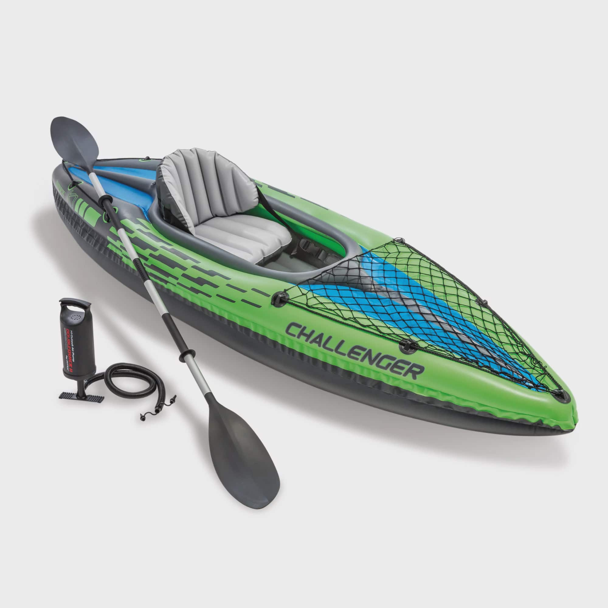 Intex Challenger K1 Inflatable Kayak with Oar and Hand Pump by Intex