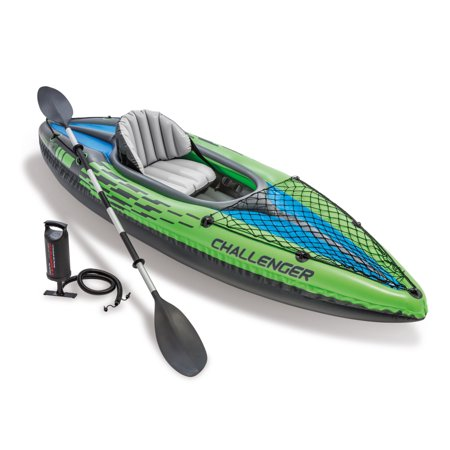 Intex Challenger K1 Inflatable Kayak with Oar and Hand
