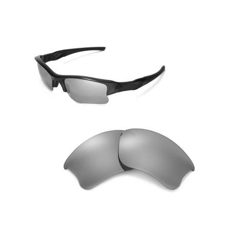 49977e6617 Walleva - Walleva Titanium Polarized Replacement Lenses for Oakley Flak  Jacket XLJ Sunglasses - Walmart.com