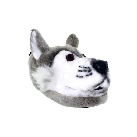 Image of Happy Feet - Gray Wolf - Animal Slippers