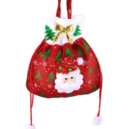 cnmodle Christmas Gift Handbag Drawstring Present Candy Bag