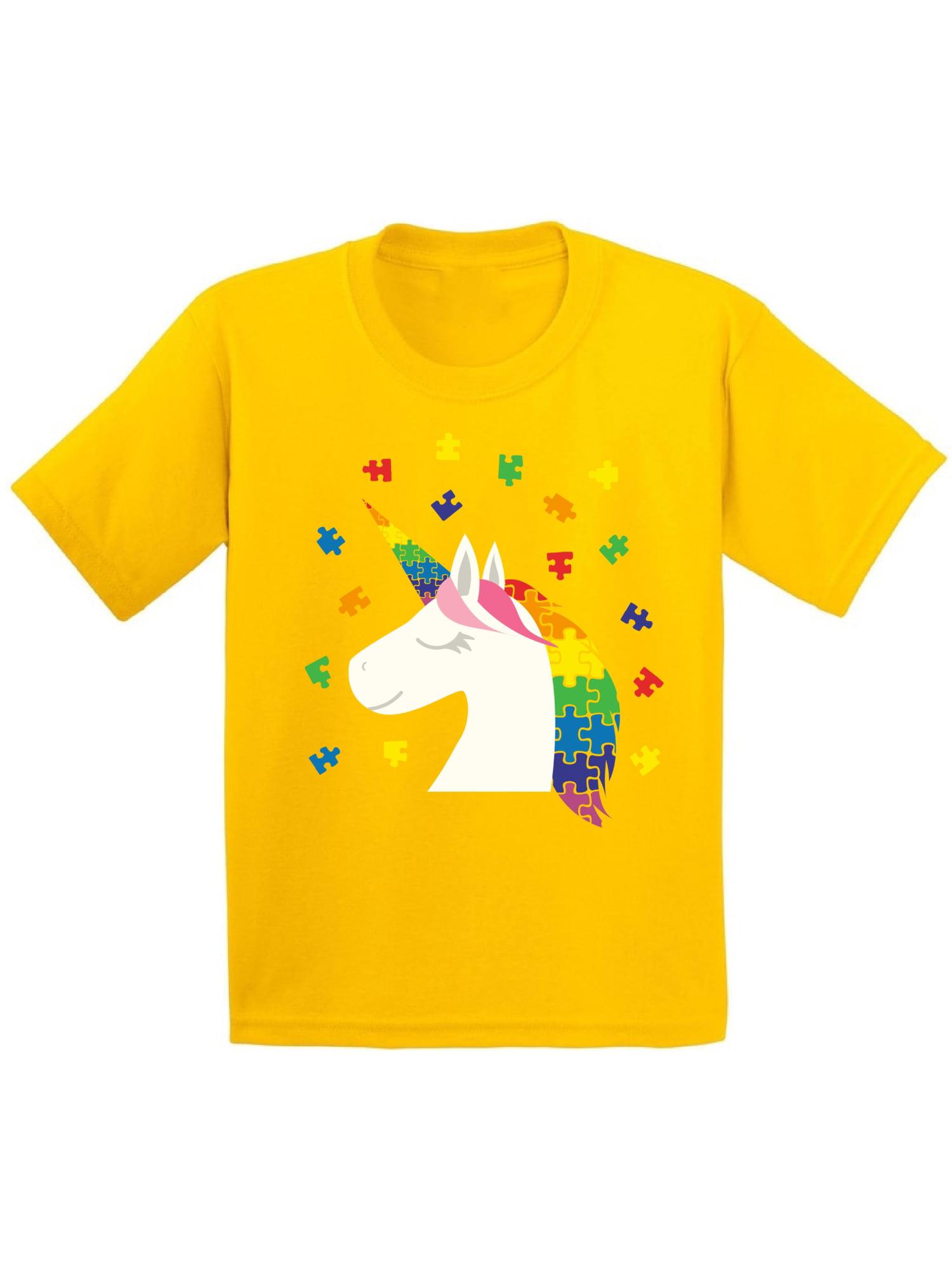 Awkward Styles Youth Unicorn Autism Shirt for Kids Autism Awareness Shirt Puzzle Autism Gifts for Kids Autistic Kids Gift Ideas Autism Awareness Shirts Kids Autism Gifts Awareness Gifts