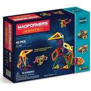 Magformers Creator Designer Multicolor Magnetic Tiles 62 Pieces