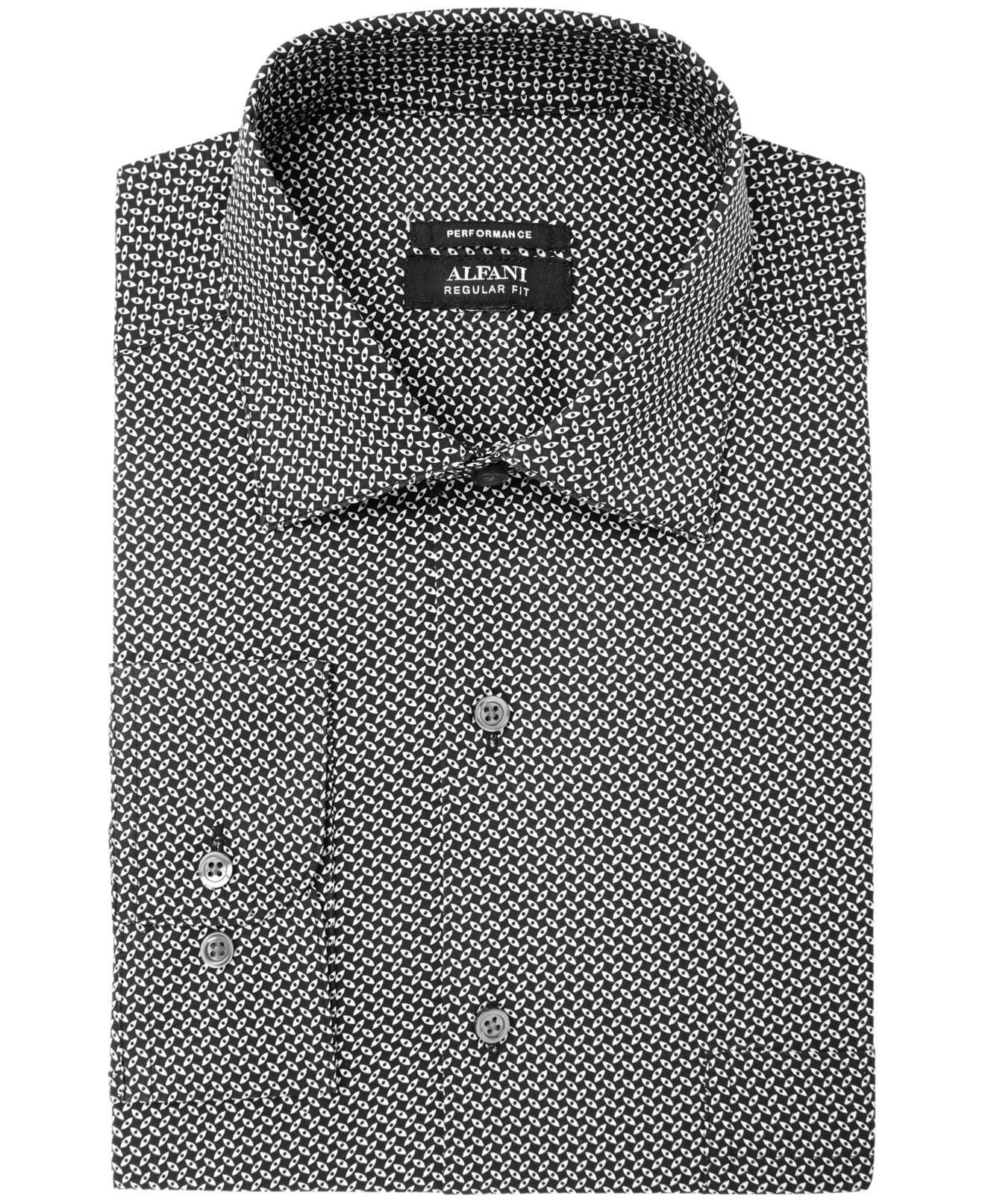 Alfani Mens Classic-Fit Geometric-Print Shirt
