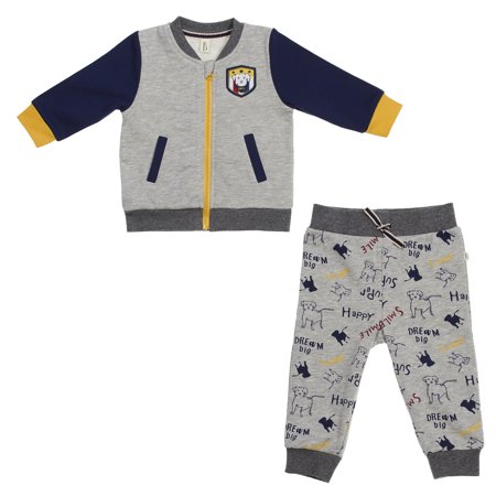 ED Ellen DeGeneres Baby 2 Piece Dog Jog Set (Boys & Girls)