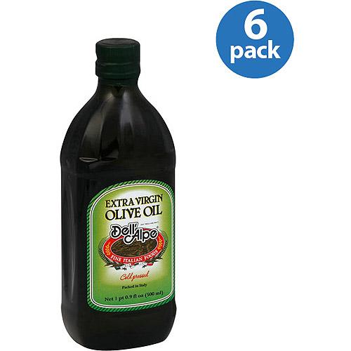 Dell'Alpe Extra Virgin Olive Oil, 17 fl oz, (Pack of 6)
