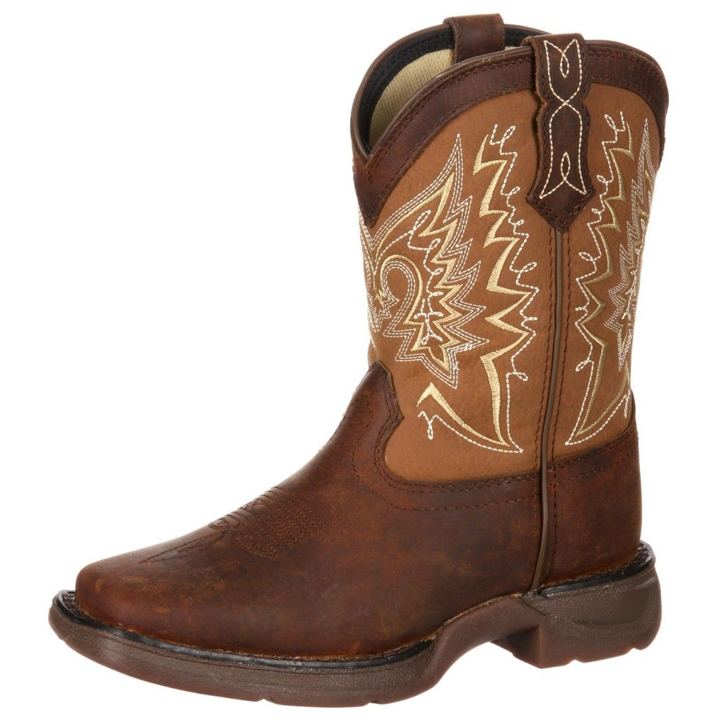 Durango Western Boots Girls Let Love Fly Youth Brown Tan DWBT100