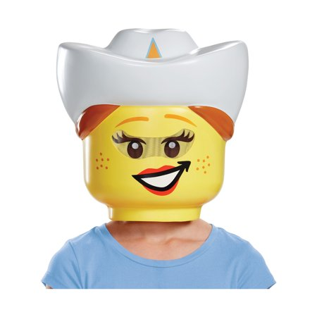 Girl Mask - Child's Girls LEGO® Iconic Characters Cowgirl Mask Costume Accessory