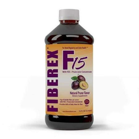 Fiberex Liquid Fiber - Natural Prune Flavor (16oz)