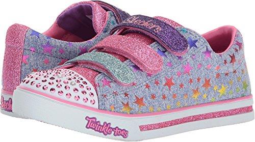 Skechers Kids Girl's Sparkle Glitz 10917L Lights (Little Kid/Big Kid) Blue/Multi 2 M US Little Kid