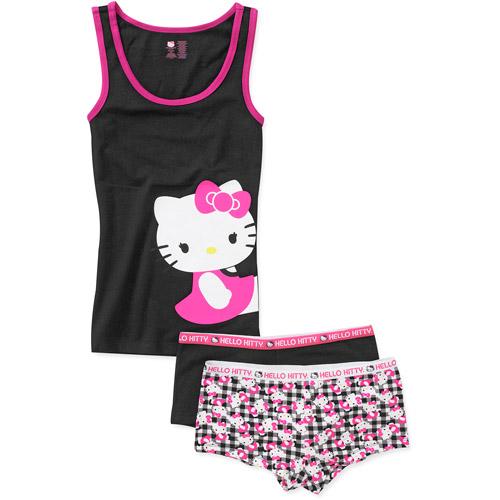 Juniors Hello Kitty Tank and 2-Pack Boyshort Set