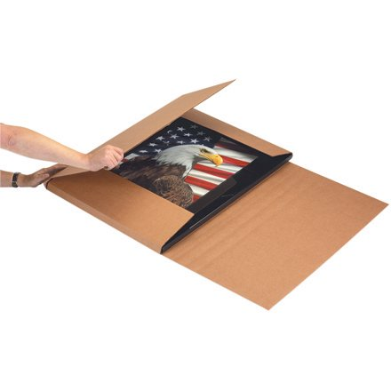"M20166 Kraft 20 x 16 x 6"" Jumbo 200#/ECT-32-C Corrugated Cardboard construction Easy-Fold Mailers BUNDLE OF 20"