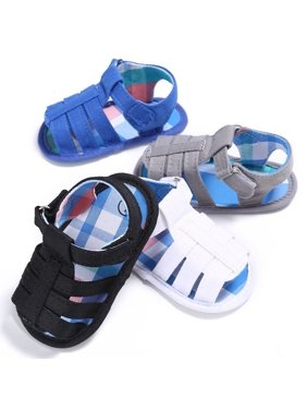 new 0-18M Baby Kids Boys Sandals Summer Children Breathable Antiskid cloth shoes