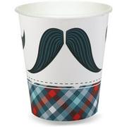 Little Man Mustache 9 oz. Paper Cups