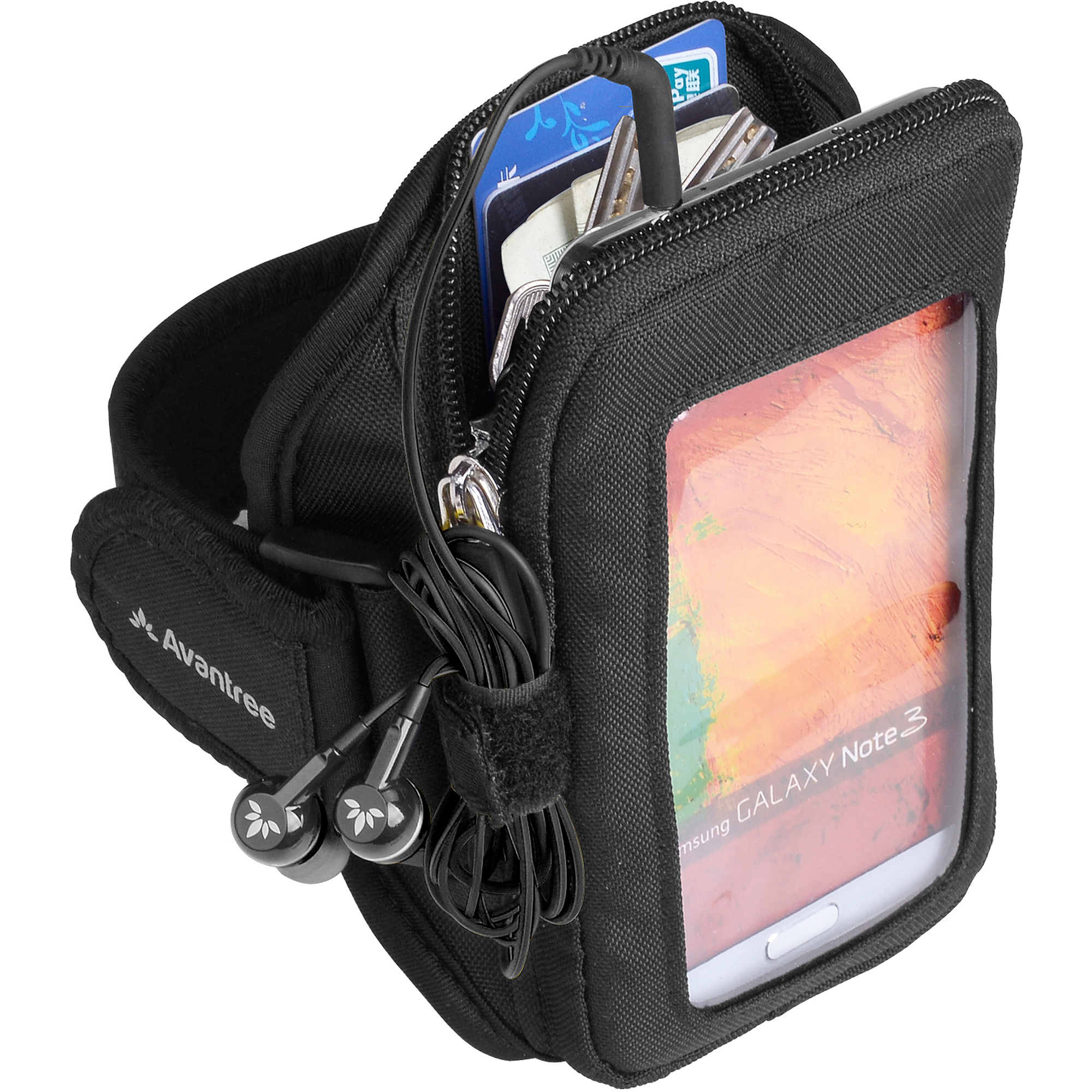 Avantree KSAM-TR801-BLK TrackPouch Multifunction Sports Armband, Black