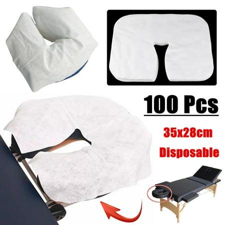 Moaere 100 Pcs Disposable Massage Table Face Rest Cushion Covers Headrest Cradle Sheets - image 5 de 9