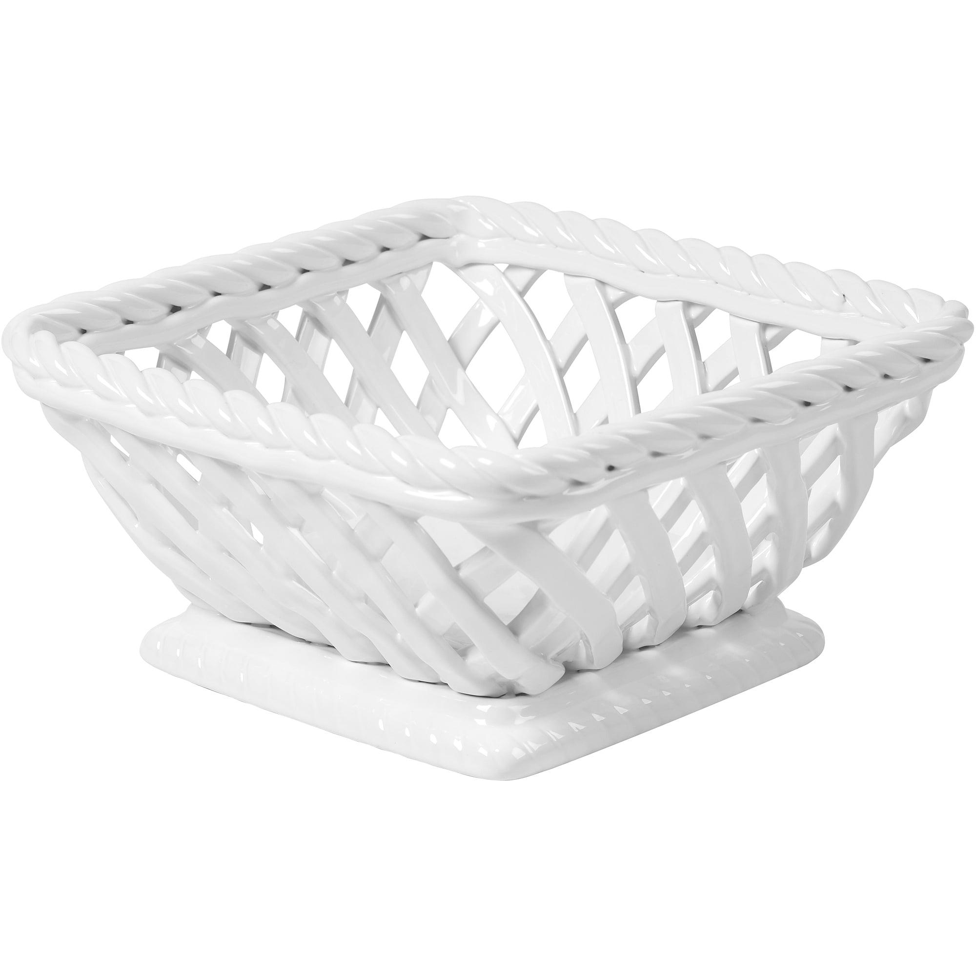 "Mainstays Serving Basket, 9"", White"