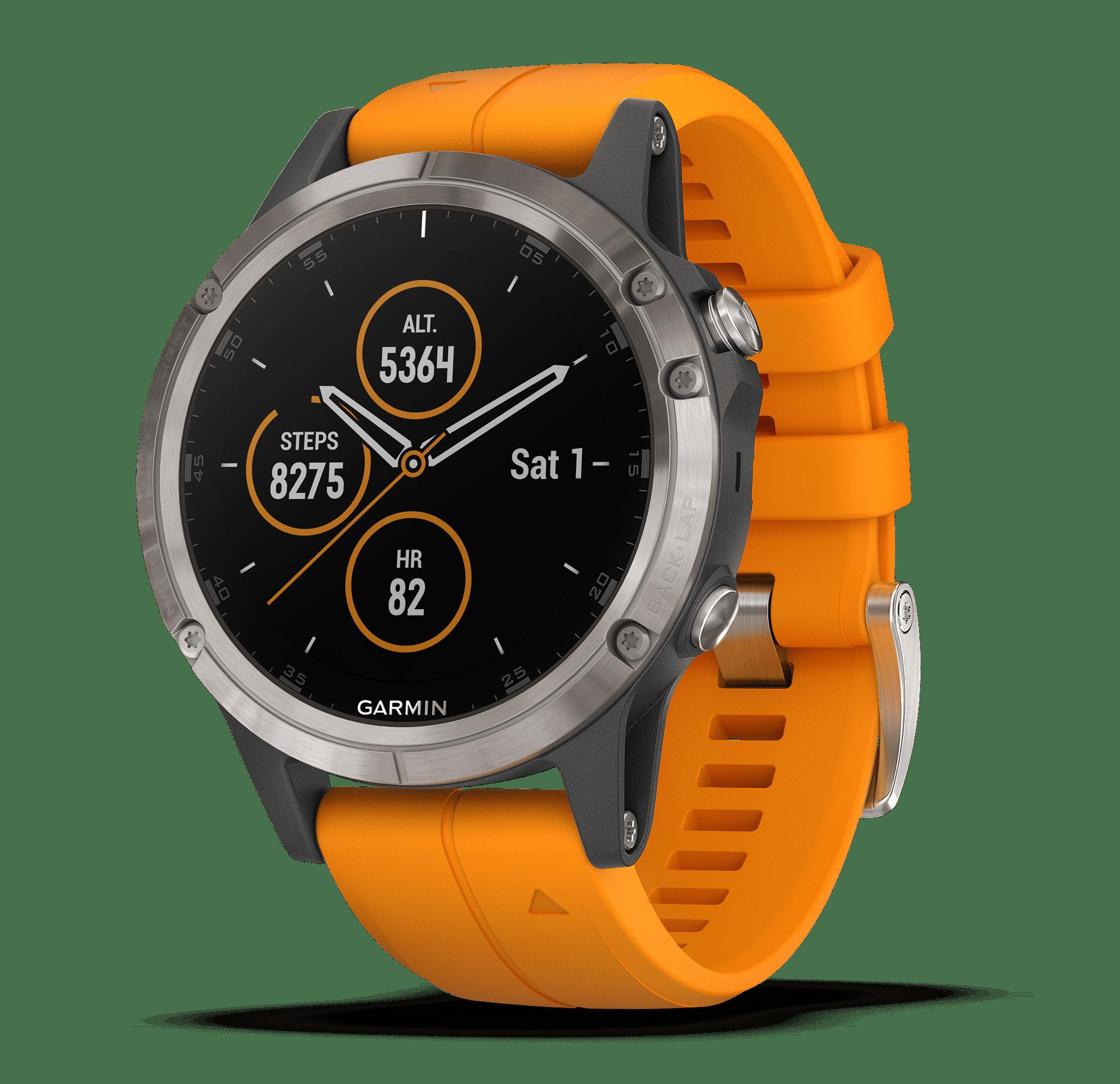 Garmin Fenix 5 Plus Sapphire Premium Multisport Watch with Music, Maps, and Garmin Pay