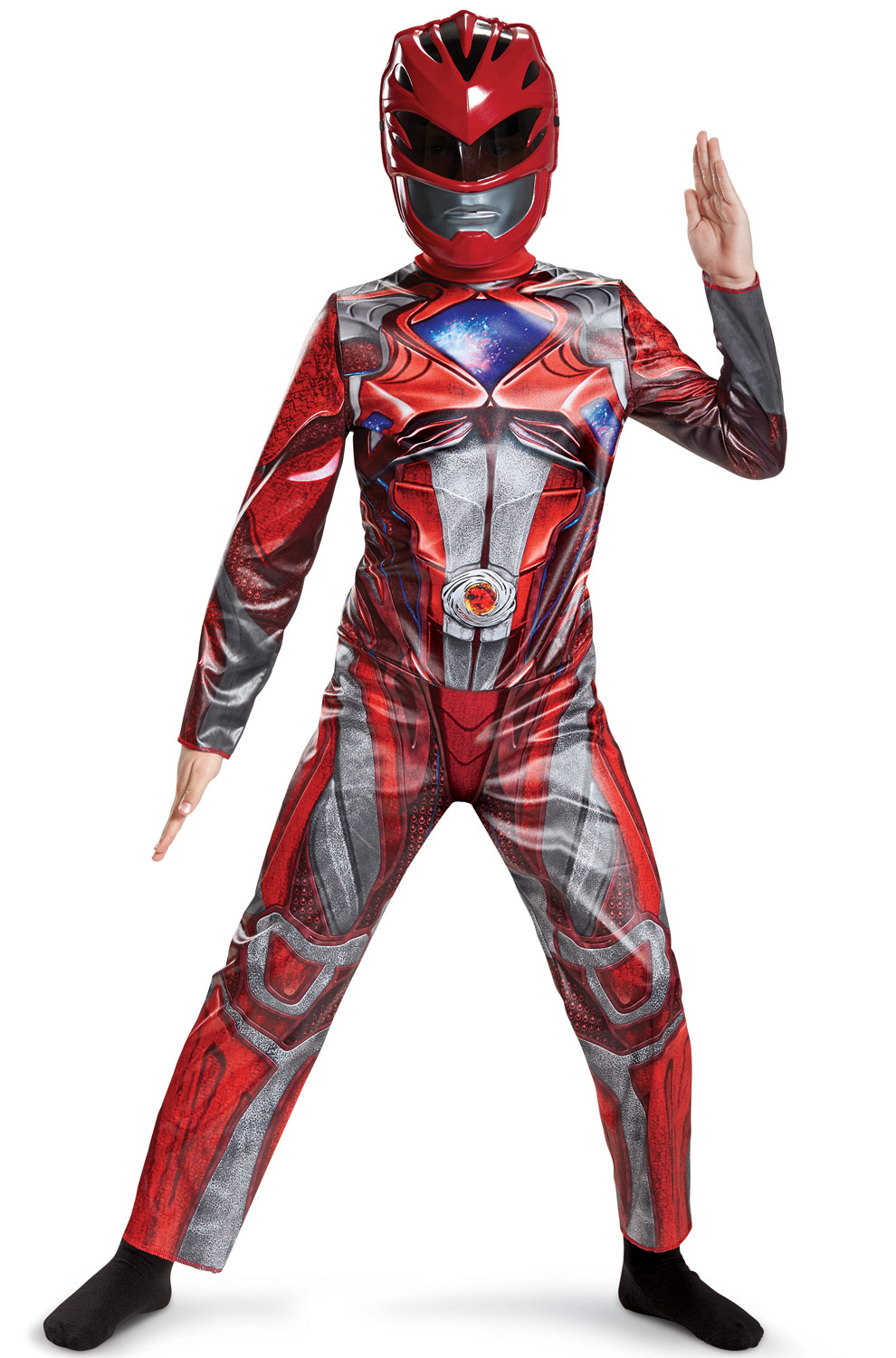 Power Rangers Red Ranger Classic Child Halloween Costume, One Size, L (10-12) by Disguise