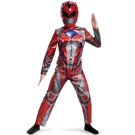 Power Rangers Red Ranger Classic Child Halloween Costume, One Size, L (10-12)