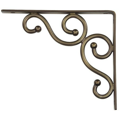 Stanley Hardware 250592 7   X 8   Satin Bronze Traditional Decorative Shelf Bracket
