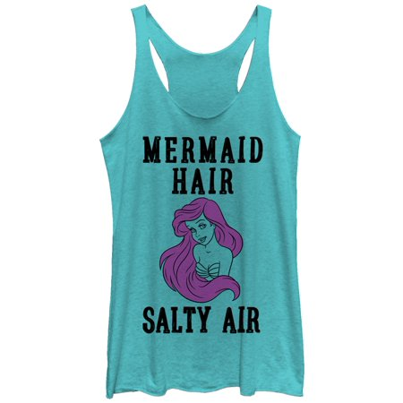 The Little Mermaid Women's Ariel Mermaid Hair Racerback Tank Top