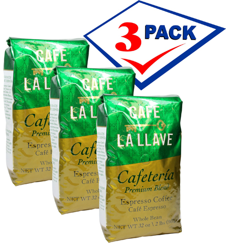Badia La Llave cuban coffee whole bean 2 lb. Pack of 3.