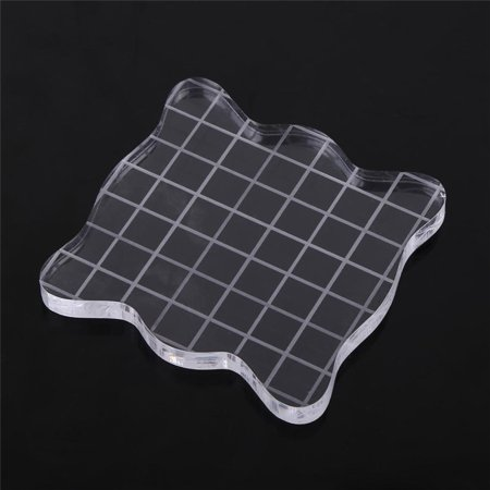 - Acrylic Grid Block,Transparent Clear Acrylic Block Pad for Scrapbooking Color Stamping Process Essential Tools