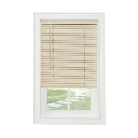 Achim Cordless GII Morningstar 1u0022 Light Filtering Mini Window Blind, Alabaster