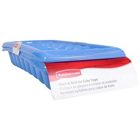 Rubbermaid Ice Cube Tray Blue Twist Release Dishwasher Safe (Set Of - Rubbermaid Ice Cube Trays