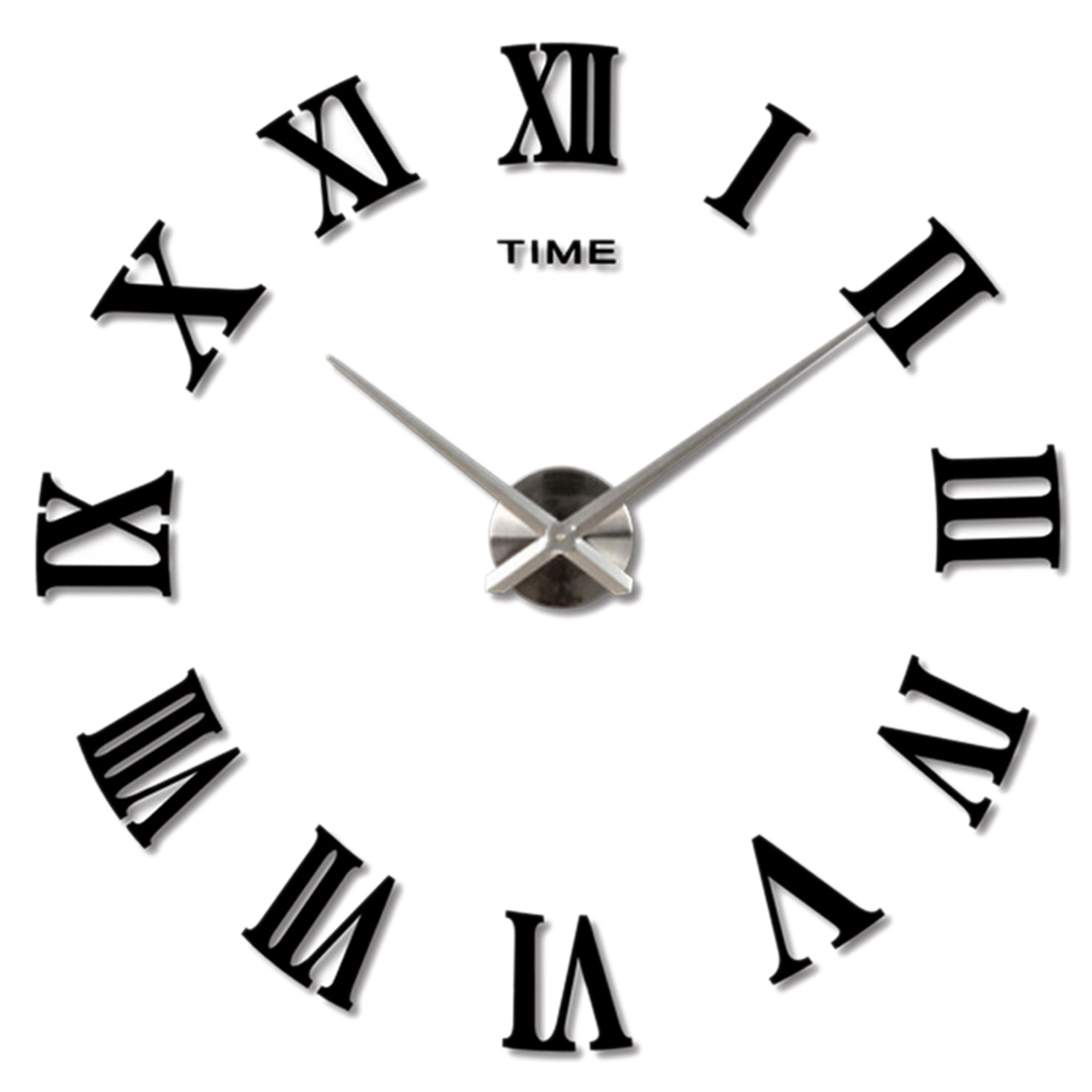 Large Black Wall Clock oversized wall clock