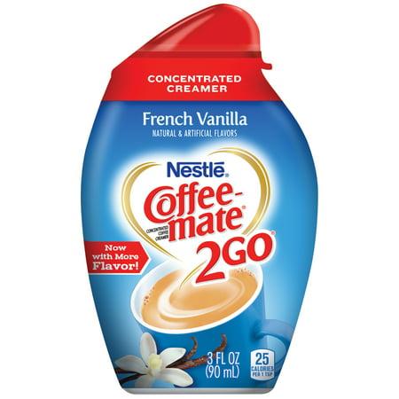 COFFEE-MATE 2GO French Vanilla Concentrated Liquid Coffee Creamer 6