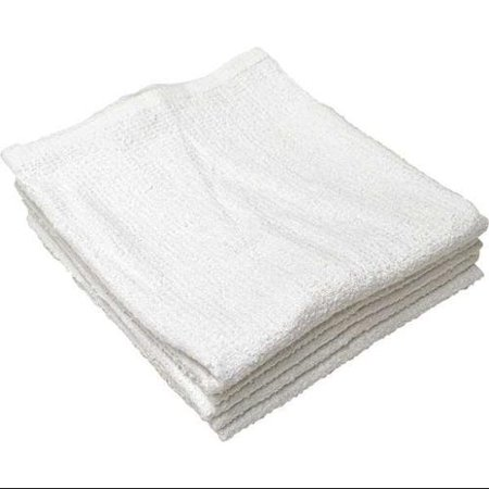 R & R TEXTILE 51705 Bar Mop Towel, Ribbed, Cotton, 20inL, - Cotton Bar Towel