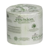 Georgia-Pacific Envision 2-Ply Toilet Paper, 19880/01, 550 Sheets per Roll, 80 Rolls per Case