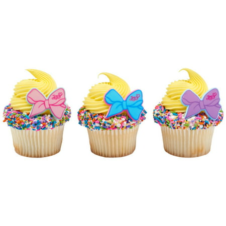 12 Count JoJo Jo Jo The Party's Here Cupcake Cake Rings Birthday Party Favors Toppers
