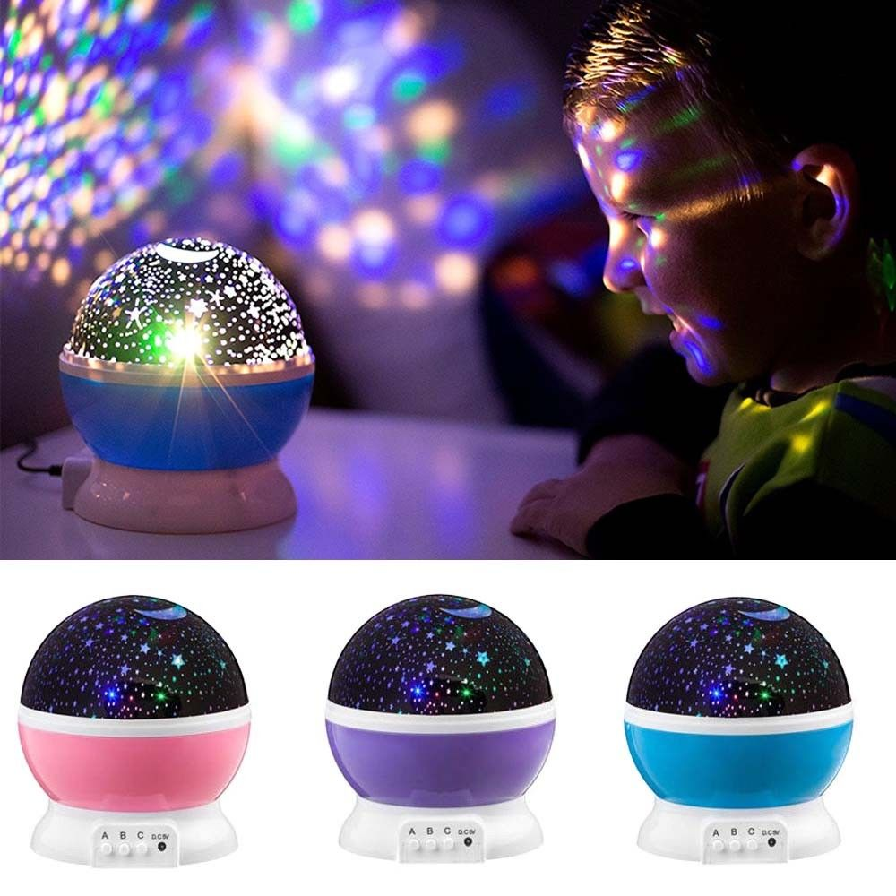 LED Starry Night Sky Projector Lamp Kids Gift Romantic Star light Cosmos Master