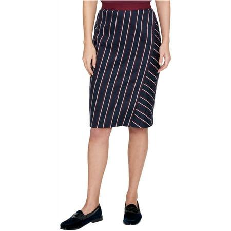 Tommy Hilfiger Womens Striped A-Line Skirt