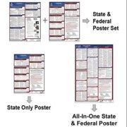 JJ KELLER 400-WI-1 Labor Law Poster,Fed/STA,WI,SP,26inH,1yr
