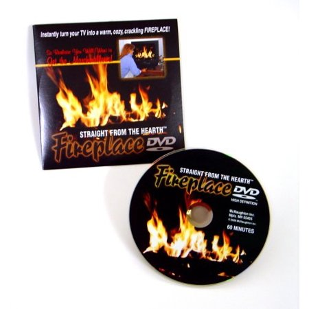 Gadjit Fireplace DVD -- Straight from the Hearth, 60 minute Video of a roaring fire in a fireplace ()