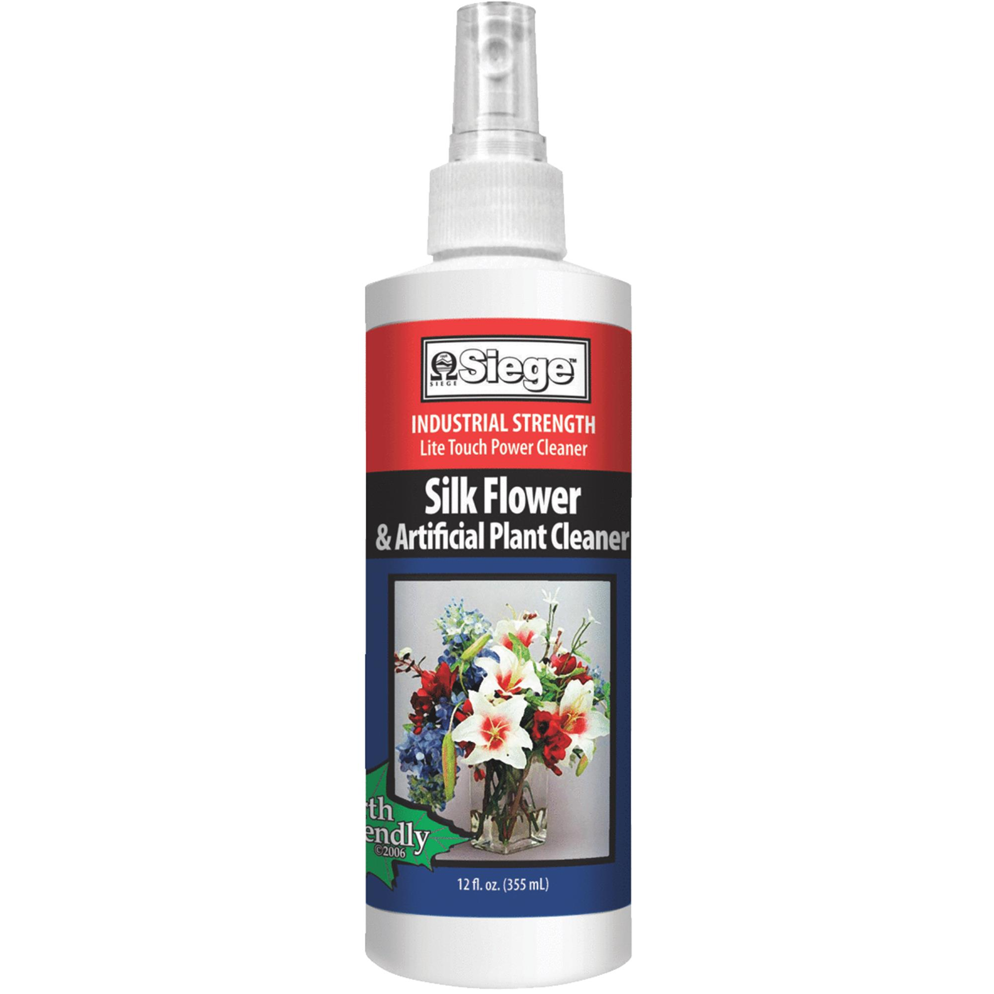 Siege Chemical 12oz Silk Flower Cleaner 771L