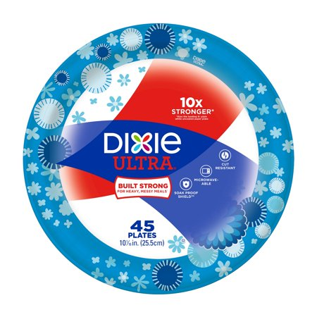 Dixie Ultra Paper Dinner Size Plates, 45ct