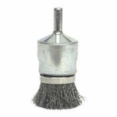 Banded Crimped Wire End Brushes, Steel, 10,000 Rpm, 1