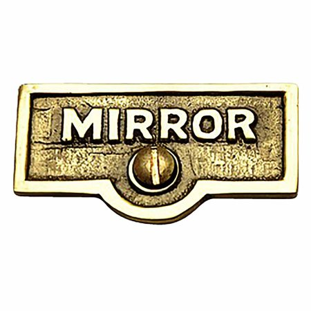 Switch Plate Tags MIRROR Name Signs Labels Lacquered Brass | Renovators Supply