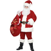 Deluxe Santa Claus Suit Adult Mens Christmas Halloween Costume -PLUS