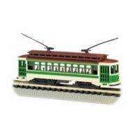 Bachmann Brill Trolley - Green - N Scale Multi-Colored