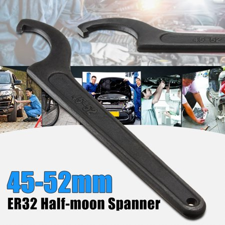 Half Moon Wrench (45-52mm Half-moon Spanner Chuck Wrench Shock Mill Lathe Holder CNC Drill Tool)